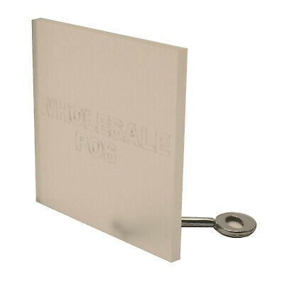 Frosted Perspex Acrylic Plastic Sheet 150mm x 150mm 8mm Thick