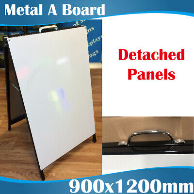 Large Double Sided Metal A Boards A Frames 900x1200mm with Wheels