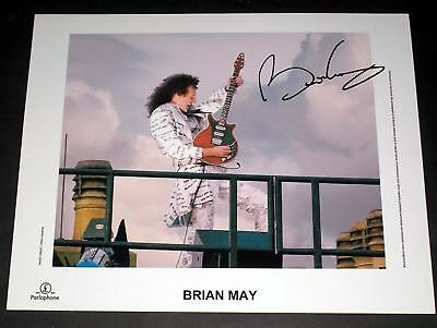 """Brian May Pp Signed 10""""x8"""" Photo Repro Queen"""