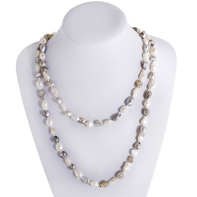 "46"" Genuine Freshwater Cultured Endless Pearls Necklace"