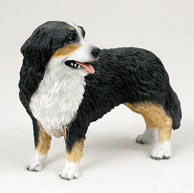 Bernese Mountain Figurine Hand Painted Collectible Statue