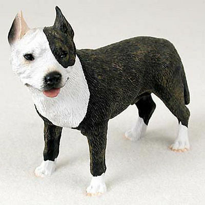 Pitbull Hand Painted Collectible Dog Figurine Brindle
