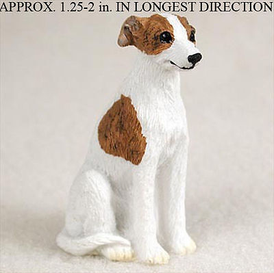 Whippet Mini Resin Hand Painted Dog Figurine Brindle/Wh