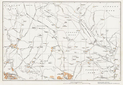 Otley (north) Yorkshire 1938 Map 5