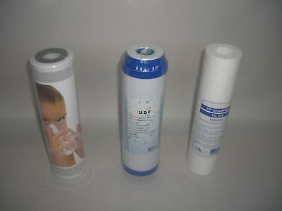 """10"""" Reverse Osmosis Water Filters 6 Month Set 3 Filters"""