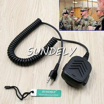 High Quality Handheld Shoulder Speaker Mic For Midland Walkie Talkie -US STOCK