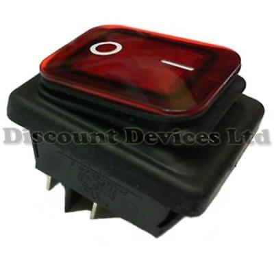 Water Proof/Resistant Illuminated Rocker switch IP65
