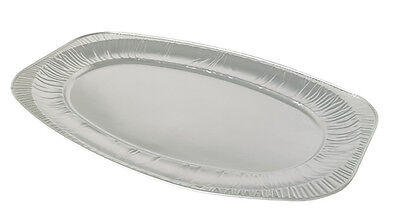 "10 x Aluminium Foil Platters - 14"" Oval Economy, For Serving Hot or Cold Food"
