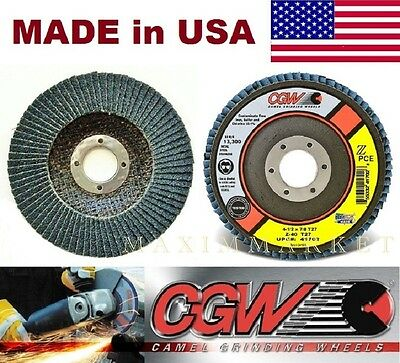 10 4-1/2 x7/8 Premium Zirconia Flap Disc Grinding Wheel