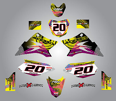 Full Custom Graphic Kit Yamaha TTR  50  - 2006 - 2016 stickers / decals