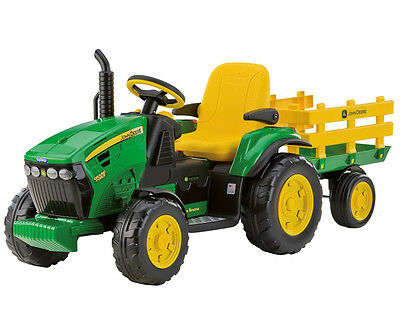 trattore john deere ground force electric tractor trattorino peg perego OR0047