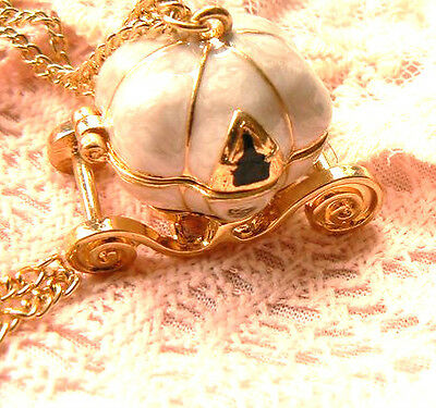 Wishful Pumpkin Carriage Locket Vintage Classic Style