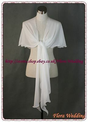 Soft Chiffon Bridal Wedding Stole/Evening Party Shawl/Prom Pageant Cover up Wrap