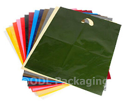 "25 Strong Quality Carrier Bags Varigauge 15"" x 18"" + 3"""