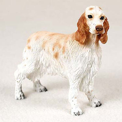English Setter Figurine Hand Painted Collectible Statue Orange