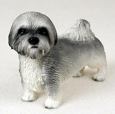 Lhasa Apso Hand Painted Collectible Dog Figurine Gray Sport