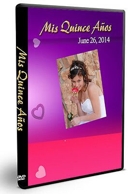 200 Photoshop templates DVD Covers for Quinceanera