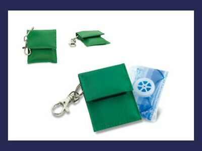CPR Resuscitation Face Shield Key Ring with 1way valve