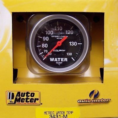 "Autometer Sport Comp Water Temp Gauge 2-5/8"" Au3431M"