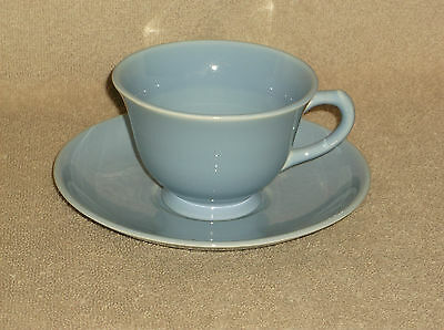 T.S.& T. LuRay Pastel Coffee Tea Cup and Saucer in Blue