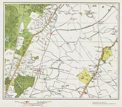 Buckhurst Hill, Chigwell old Map London 1932 #21-22