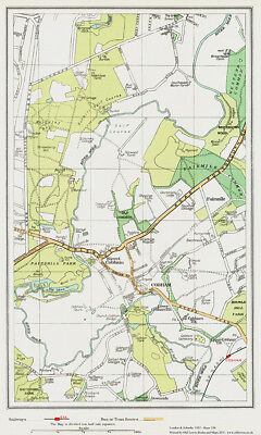 OS 9-9-1933 old map repro Dartford south Bexley southwest