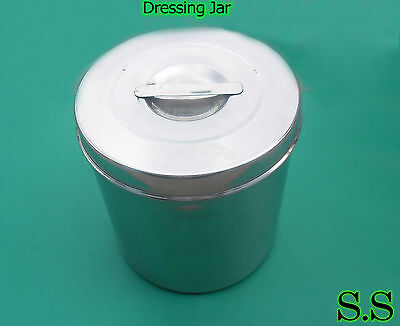 "3 stainless steel Dressing Jar 7x7"" New"