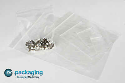 Clear Grip Seal Zip Lock Resealable Polythene Plastic Bags All Sizes