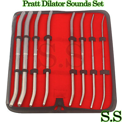 Pratt Dilator Sounds 8/Set Surgical Medical Instruments
