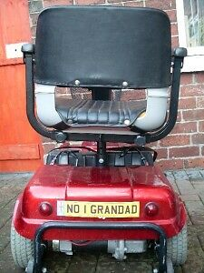 Personalised Number Plate For Mobility Scooter