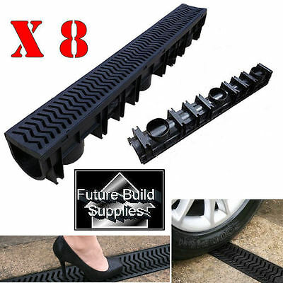 Storm Channel Drainage Drain PVC x 8 Free Delivery