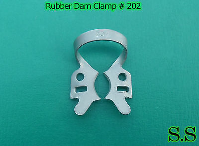 9 Pcs Endodontic Rubber Dam Clamp #202