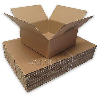"Small Postal Mailing Cardboard Boxes 12 x 12 x 5"" SW"