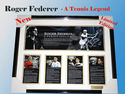 Roger Federer Tennis Memorabilia Signed Ltd Edition 499