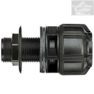 """MDPE Pipe Fitting 32mm x 1"""" BSP Philmac Tank Connector"""
