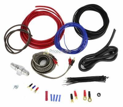 8 Gauge Amplifier Wiring Kit Car Audio Amp 8G Installation Install 1000 Watt Ga