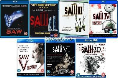 Saw Blu-Ray Collection 1 2 3 4 5 6 & 7 Final Chapter 3D