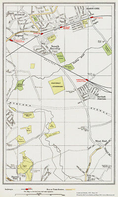 Woking Maybury area Map London 1932 #155