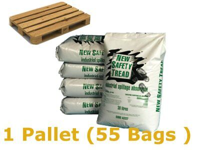 1 Pallet (55 Bags) New Safety Tread Absorbent Granules