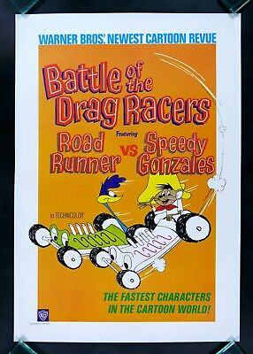 DRAG RACERS * CineMasterpieces MOVIE POSTER SPEEDY GONZALEZ ROAD RUNNER