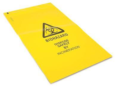 Yellow Self Seal Clinical Waste Bags Sacks 20 x 30cm