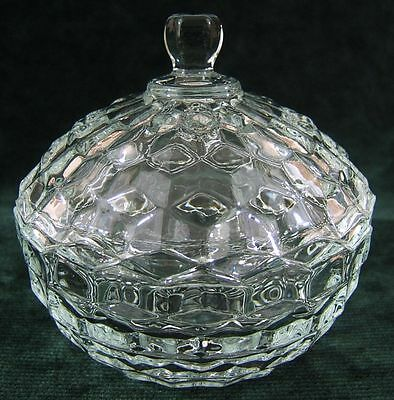 Vintage Indiana Glass Lidded Candy Dish