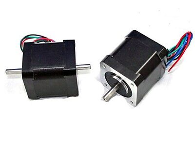 NEMA17 Dual Shaft 2A/83oz-in Stepper Motor ( N1728D63)
