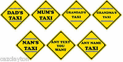 Novelty Taxi Car Sign Choice Of 7 Styles