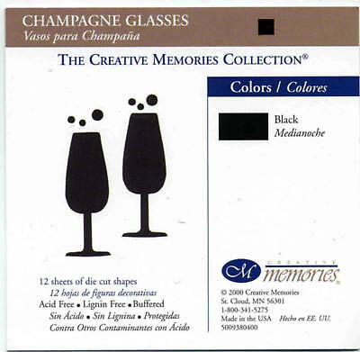 Creative Memories Champagne Glasses Die Cut Bn & Nla