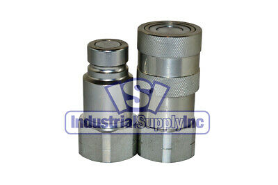 "3/4"" NPT Skid-Steer Hydraulic Hose Quick Coupler"