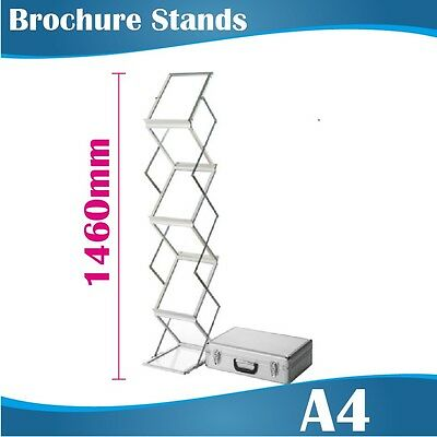 NEW A4 Premium Portable Brochure Stand Literature Display Stand Catalogue Stand