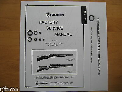 Crosman 140 147 1400 Seal Kit - Factory Service Manual - Instructions - Guide