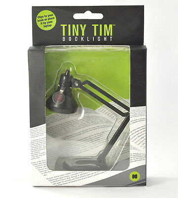 Tiny Tim Book Reading Light - Clip On Lamp in Black