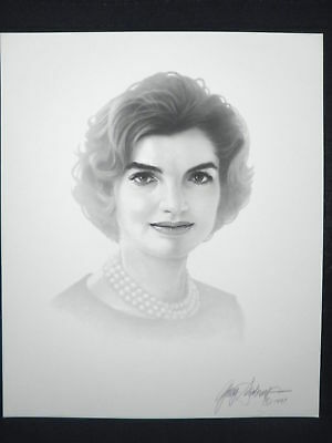 Jackie Kennedy Presidents Wife Gary Saderup Lithograph